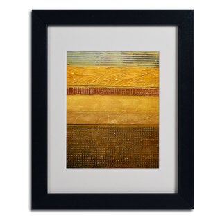 Michelle Calkins 'Earth Layers Abstract' Framed Matted Art