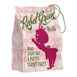 Women's Rebel Green Princess Lunch Bag/Reusable Napkin Pink Cotton Canvas