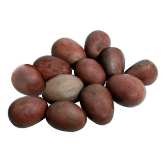 Set of 12 Shona Decorative Serpentine Stone Eggs (Zimbabwe)