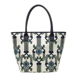 Women's Soapbox Bags Vineyard Shopper Tote Blue/Cream