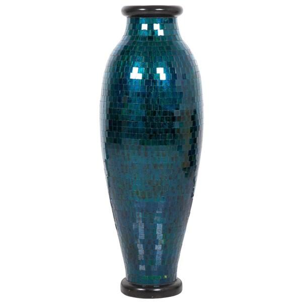 Turquoise Mosaic Floor Vase (Indonesia)