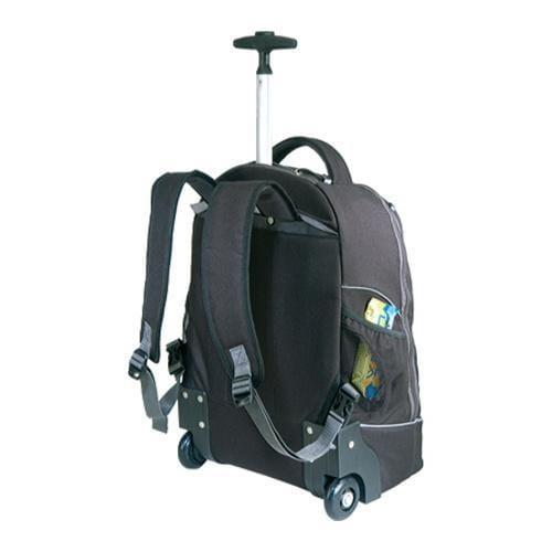US Traveler Horizon Rolling Computer Backpack Black