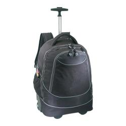 US Traveler Horizon Rolling Computer Backpack Black