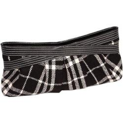 Women's Tamara Amber Clutch Black/Ivory Plaid