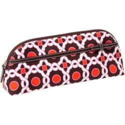Women's Tamara Heidi Cosmetic Clutch Brown Geometric