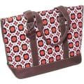 Women's Tamara Lucy Tote Brown Geometric