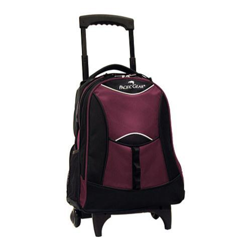 Traveler's Choice Rolling Backpack Burgundy