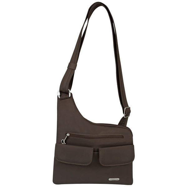 Women's Travelon Anti-Theft Cross-Body Bag Chocolate