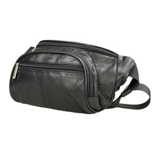 Travelon Leather Waist Pack w/Organizer Black