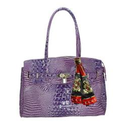 Women's Vecceli Italy AS-167 Purple Alligator Compressed Leather
