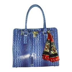 Women's Vecceli Italy AS-173 Blue Alligator Compressed Leather