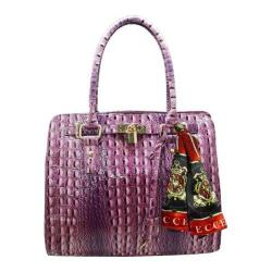 Women's Vecceli Italy AS-173 Purple Alligator Compressed Leather