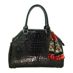 Women's Vecceli Italy AS-175 Black Alligator Compressed Leather