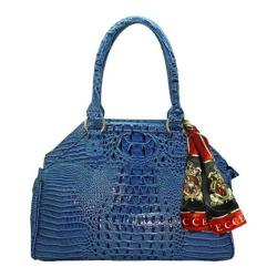 Women's Vecceli Italy AS-175 Blue Alligator Compressed Leather