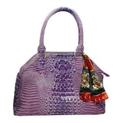 Women's Vecceli Italy AS-175 Purple Alligator Compressed Leather