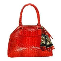 Women's Vecceli Italy AS-175 Red Alligator Compressed Leather