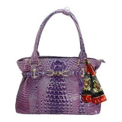 Women's Vecceli Italy AS-176 Purple Alligator Compressed Leather