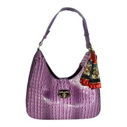Women's Vecceli Italy AS-178 Purple Alligator Compressed Leather