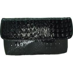 Women's Vecceli Italy CL-103 Black Alligator Compressed Leather