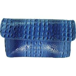 Women's Vecceli Italy CL-103 Blue Alligator Compressed Leather