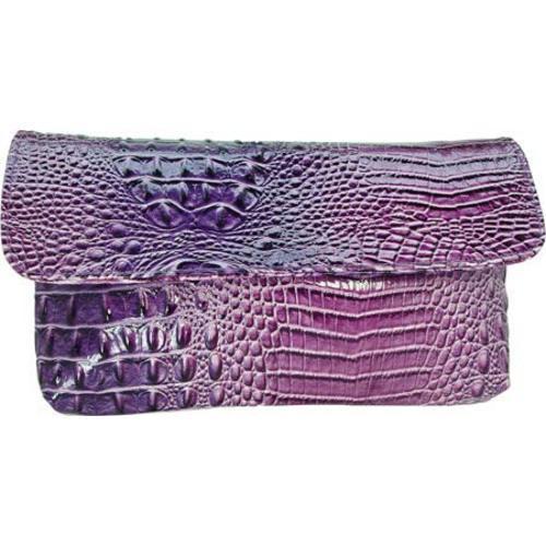 Women's Vecceli Italy CL-103 Purple Alligator Compressed Leather