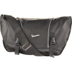 Vespa Two-Toned Bike Messenger Bag Black