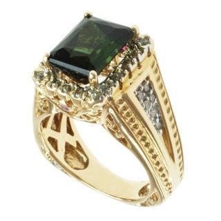 Michael Valitutti 14k Yellow Gold Multi-gemstone and Diamond Ring