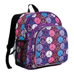 Wildkin Peace Signs Purple Pack 'n Snack Backpack