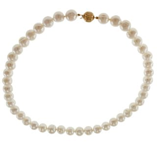 Michael Valitutti 14k Yellow Gold Freshwater Pearl Necklace (9-10 mm)