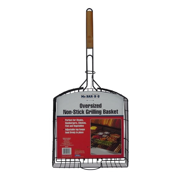 Mr. Bar-B-Q Oversized Silver Non-stick Basket