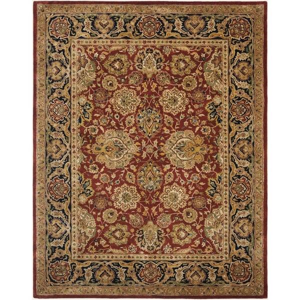 Safavieh Handmade Persian Legend Rust/ Navy Wool Rug (7'6 x 9'6)