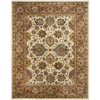 Safavieh Handmade Persian Legend Ivory/ Rust Wool Rug (6' x 9')