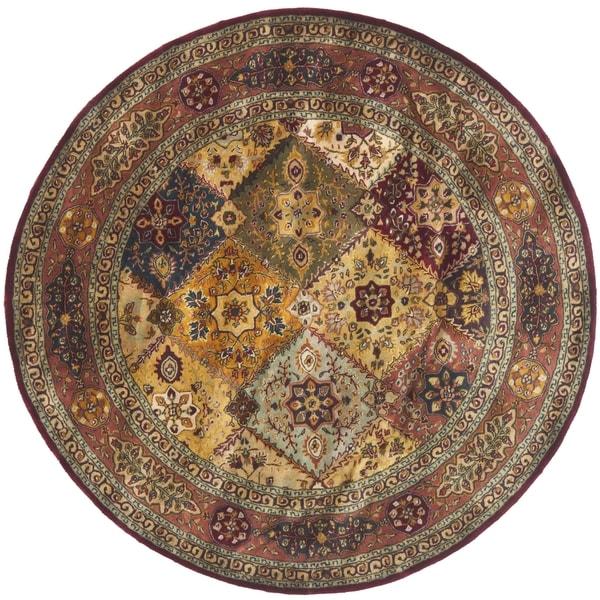 Safavieh Handmade Persian Legend Light Green Rust New: Safavieh Handmade Persian Legend Red/ Rust Wool Rug (8