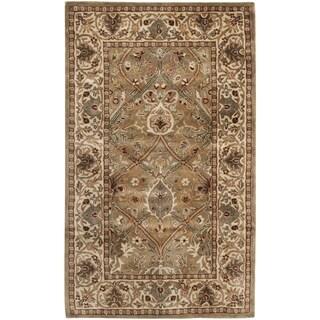 Safavieh Handmade Persian Legend Light Green/ Beige Wool Rug (2'6 x 4')