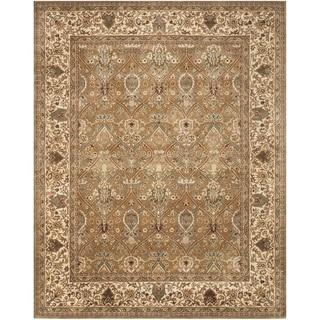 Safavieh Handmade Persian Legend Light Green/ Beige Wool Rug (8'3 x 11')
