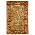 Safavieh Handmade Persian Legend Light Green/ Rust Wool Rug (2' x 3')