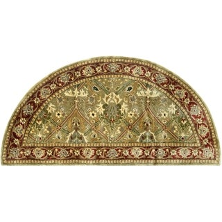 Safavieh Handmade Persian Legend Light Green/ Rust Wool Rug (2' x 4' Hearth)