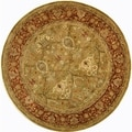 Safavieh Handmade Persian Legend Light Green/ Rust Wool Rug (6' Round)