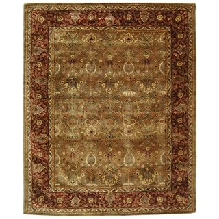 Safavieh Handmade Persian Legend Light Green/ Rust Wool Rug (9'6 x 13'6)