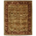 Safavieh Handmade Persian Legend Light Green/ Rust Wool Rug (8'3 x 11')