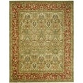 Safavieh Handmade Persian Legend Light Green/ Rust Wool Rug (11' x 15')