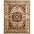 Safavieh Handmade Persian Legend Ivory/ Rust Wool Area Rug (6' x 9')