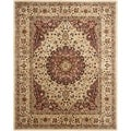 Safavieh Handmade Persian Legend Ivory/ Rust Wool Rug (7'6 x 9'6)