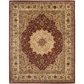 Safavieh Handmade Persian Legend Ivory/ Rust Wool Transitional Rug (6' x 9')