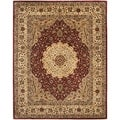 Safavieh Handmade Persian Legend Ivory/Rust Traditional Wool Rug (7'6 x 9'6)