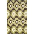 Safavieh Retro Dark Brown/ Green Rug (8' x 10')