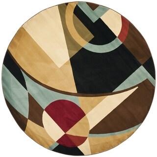 Safavieh Porcello Contemporary Black Rug (5' Round)