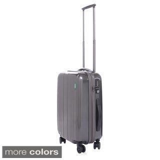 Lojel Superlative Expansive Polycarbonate 22-inch Small Carry-on Upright Spinner Suitcase
