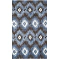 Safavieh Retro Dark Brown/ Blue Rug (5' x 8')