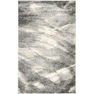 Safavieh Retro Grey/ Ivory Rug (6' x 9')